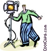 Vector Clip Art graphic  of a motion picture lighting