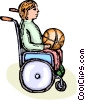 Vector Clip Art image  of a wheelchair basketball player