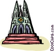 Vector Clip Art image  of a Christian Church