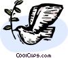 Vector Clip Art graphic  of a dove of peace with olive