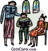 Vector Clip Art graphic  of a religious instruction