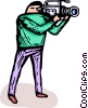 Vector Clipart picture  of a television broadcast video camera