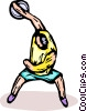 discus thrower Vector Clip Art picture