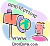 Vector Clip Art image  of a on-line world of possibilities