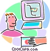 on-line e-commerce concept Vector Clipart image