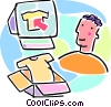 Vector Clipart picture  of a on-line e-commerce concept