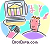 on-line banking and investing concept Vector Clipart graphic