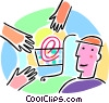 internet e-commerce concept, shopping on-line Vector Clip Art image