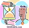 hourglass, sands of time Vector Clipart illustration