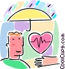 Vector Clipart graphic  of a Health insurance concept with