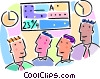 Vector Clip Art graphic  of a stock market concept