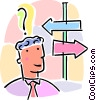 decision, which way to go Vector Clipart image