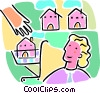 Vector Clipart graphic  of a Shopping for a new home