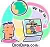 Vector Clipart image  of a on-line shopping