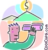 setting financial goals Vector Clip Art graphic