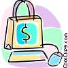 Vector Clipart image  of a internet e-commerce