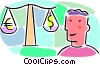 Vector Clip Art image  of a balancing international