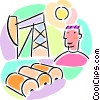 petroleum barrels of oil Vector Clipart illustration