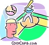 baseball players Vector Clip Art picture