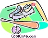 baseball equipment Vector Clip Art picture