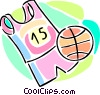 basketball uniform and a basketball Vector Clip Art picture