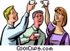 Vector Clip Art picture  of a Toasting Success