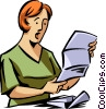 Doing Paperwork Vector Clipart picture