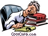 Vector Clipart graphic  of a Exhaustion