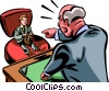 Vector Clip Art graphic  of a Leadership and Management