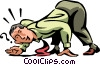 businessman with his ear to the ground Vector Clip Art picture