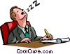 Vector Clip Art graphic  of a Exhaustion