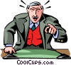 CEO giving instructions Vector Clip Art graphic