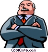 Vector Clipart image  of a Leadership and Management