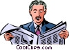 Vector Clipart picture  of a Periodicals Newspapers