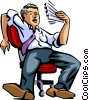 Vector Clip Art image  of a Exhaustion