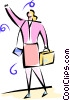 businesswomen hailing a cab Vector Clipart picture