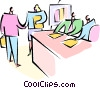 Vector Clipart illustration  of a businesspeople having a
