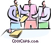 Vector Clipart graphic  of a having a meeting