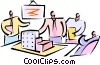 Vector Clip Art image  of a having a meeting