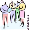 people shaking hands after business meeting Vector Clip Art picture