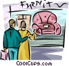 Vector Clip Art picture  of a couple window shopping for