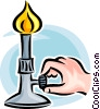 Bunsen burner Vector Clip Art picture