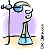 science beaker Vector Clipart graphic