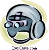 doctor/surgical headgear Vector Clip Art picture
