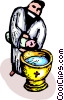 Vector Clip Art graphic  of a Priest baptizing an infant