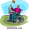 Vector Clipart illustration  of a People with Disabilities