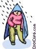 Vector Clipart illustration  of a Rain