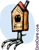 Vector Clipart graphic  of a Bird Houses and Cages
