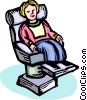 Child in dentist chair Vector Clipart graphic