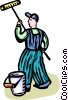 Vector Clip Art image  of a professional painter